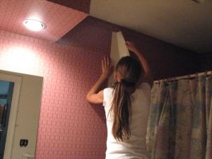 peeling old wallpaper