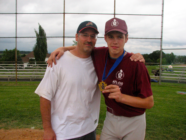 T and Curt with medal